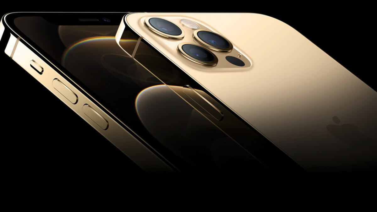 iPhone 12 Pro Max in gold: the color matches the price.