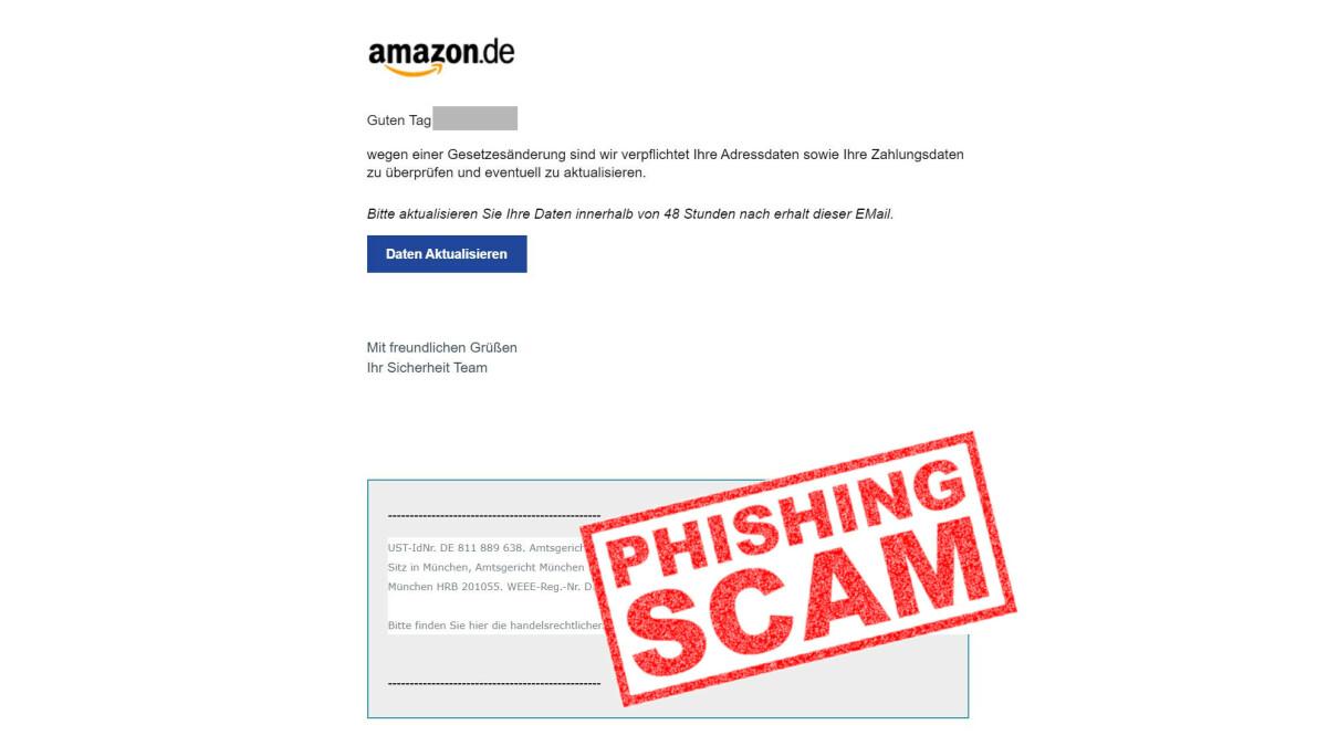 Gefälschte Amazon Mails