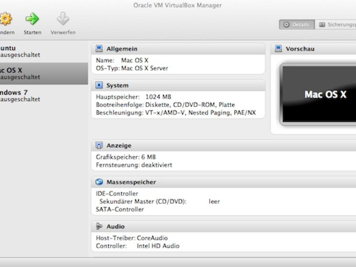 Oracle Virtualbox Anleitung Deutsch