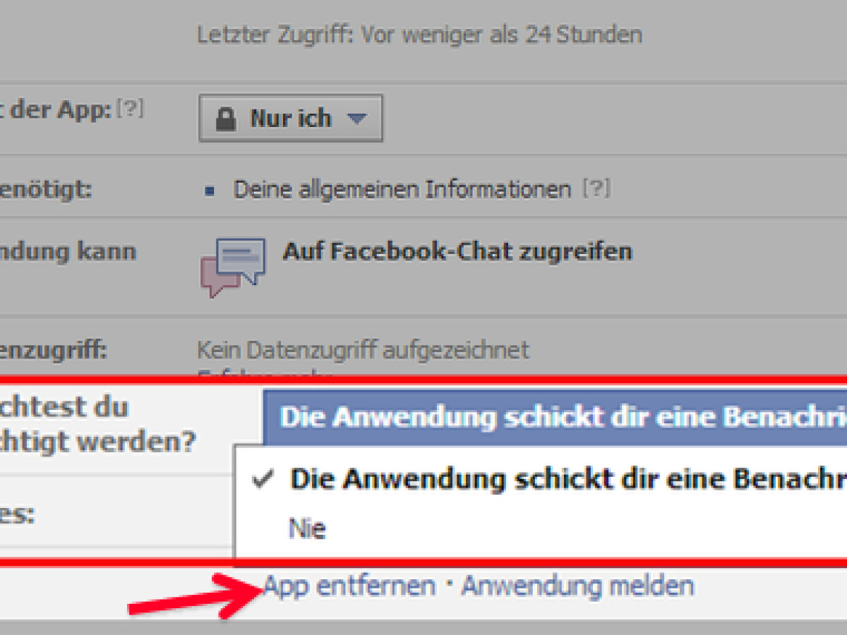 Facebook Apps Entfernen