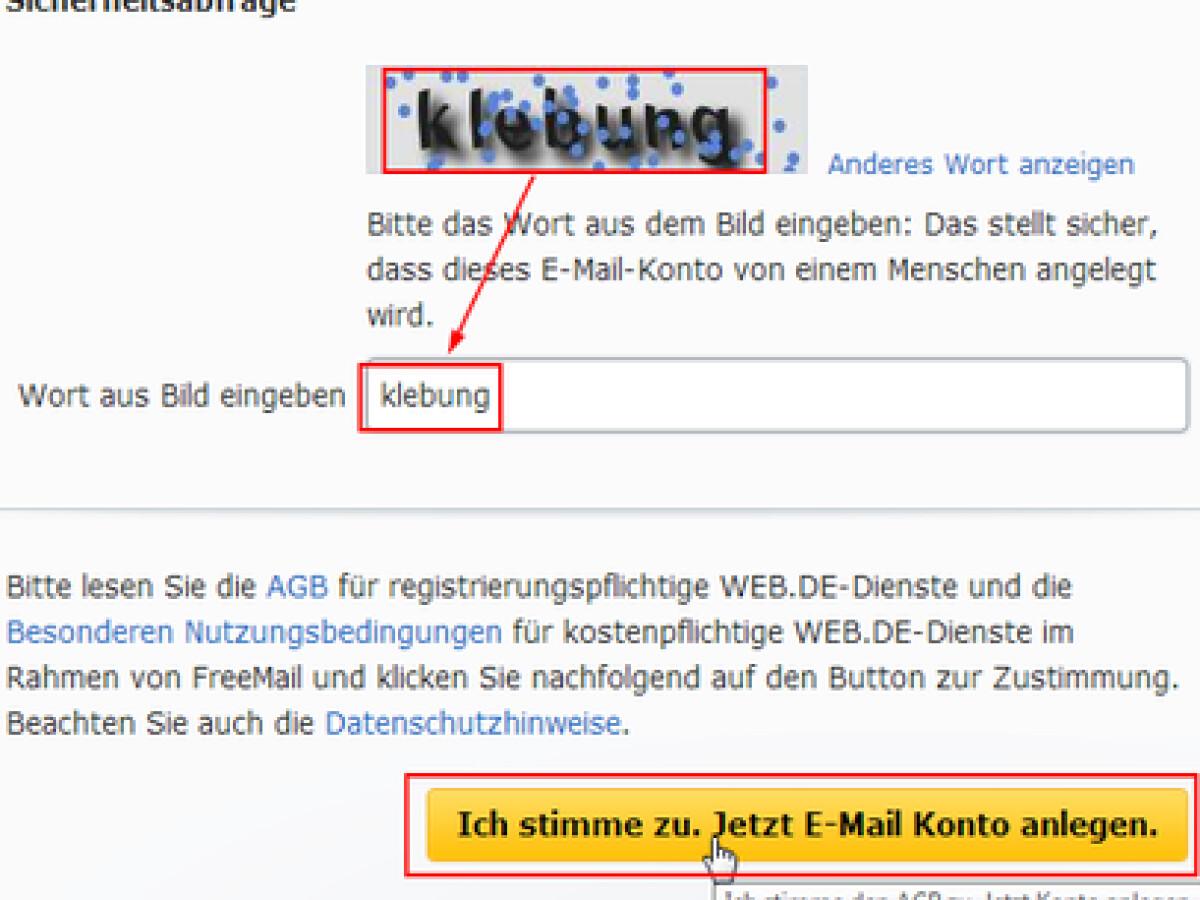 freemail konto erstellen