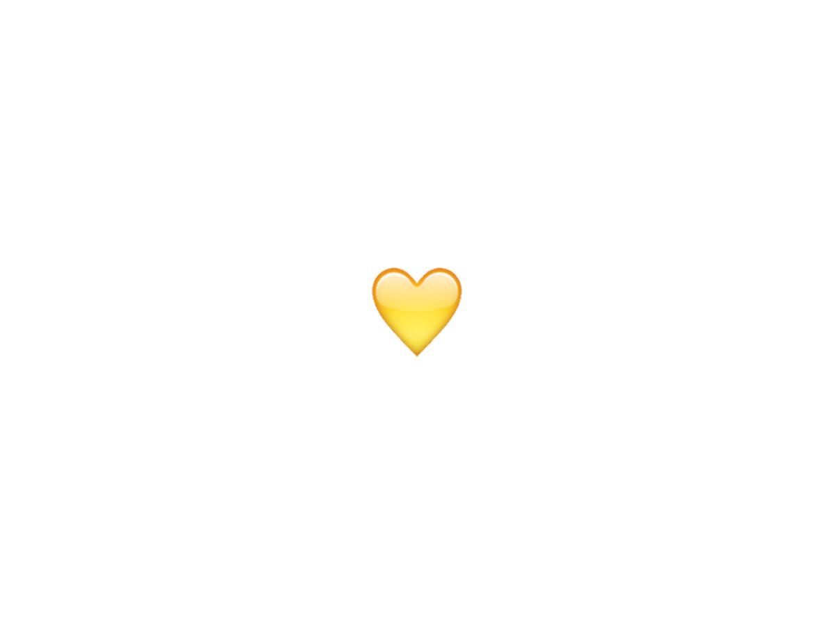 Snapchat: Gelbes Herz   NETZWELT