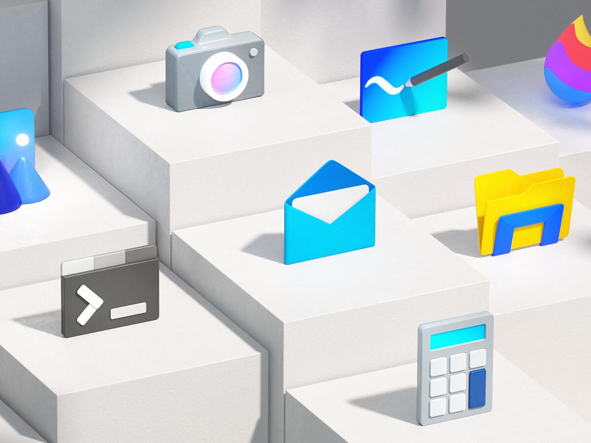 Windows 10 im neuen Design: Ausblick auf neue Icons und angepasstes Logo