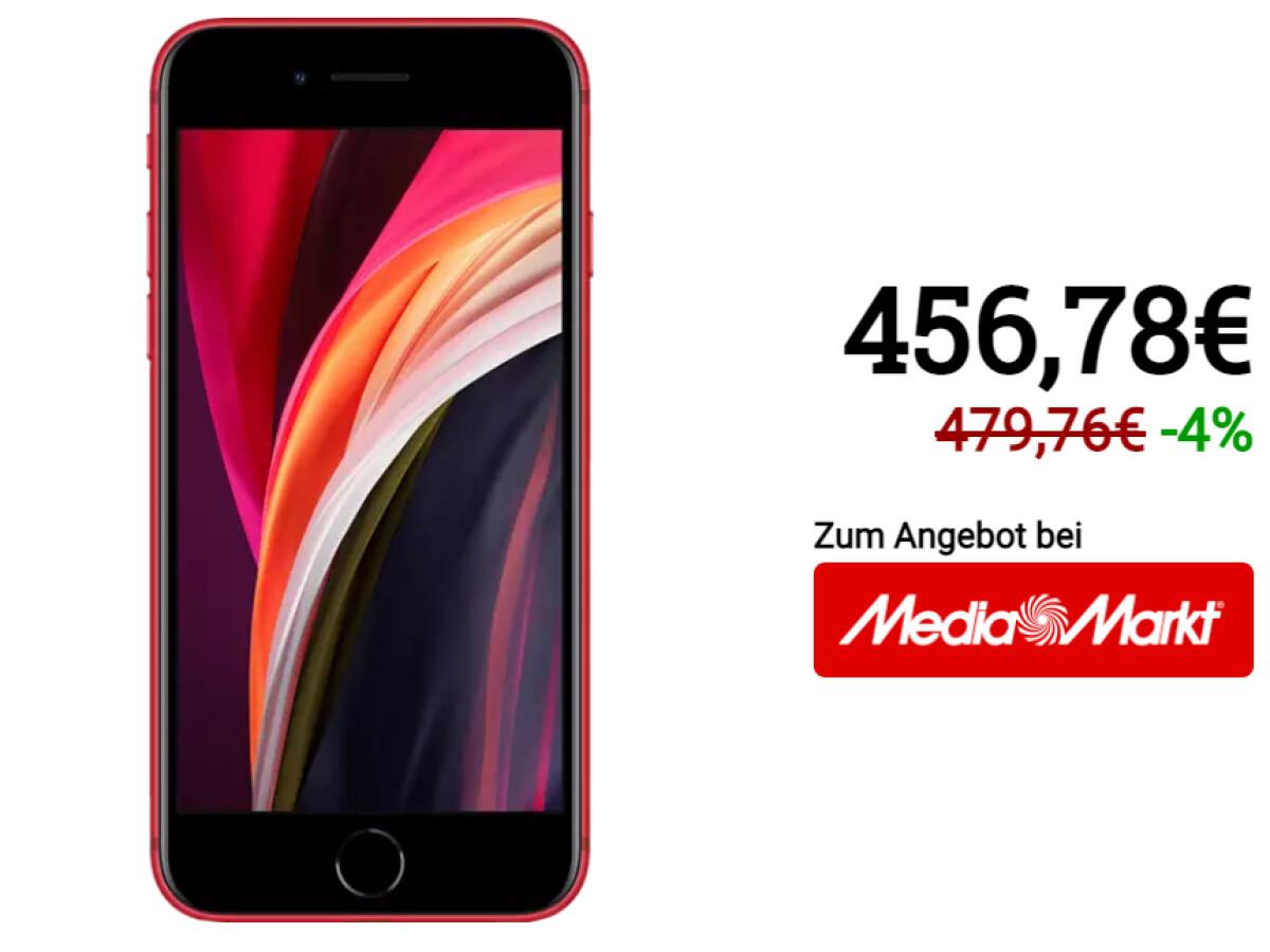 Apple iPhone SE (2nd generation) |  128 gigabytes of storage |  red