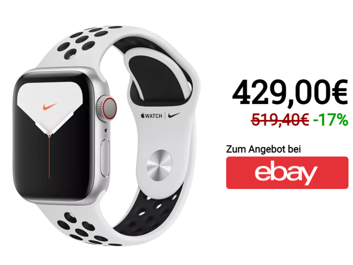 Apple Watch Series 5 | Nike Edition | 40 Millimeter | GPS | LTE