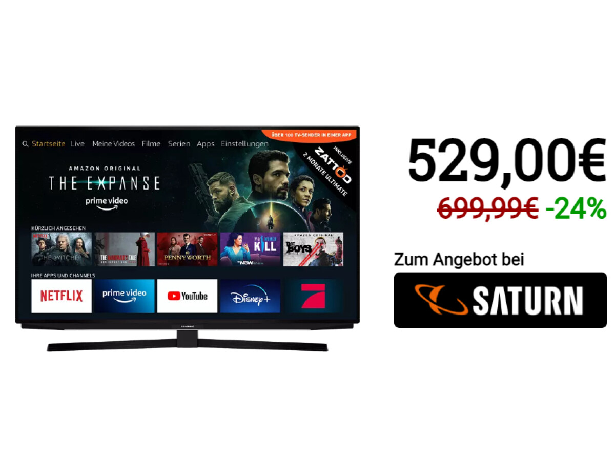 Grundig 65 GUB 7040 Fire TV Edition | TV LED | 65 polegadas