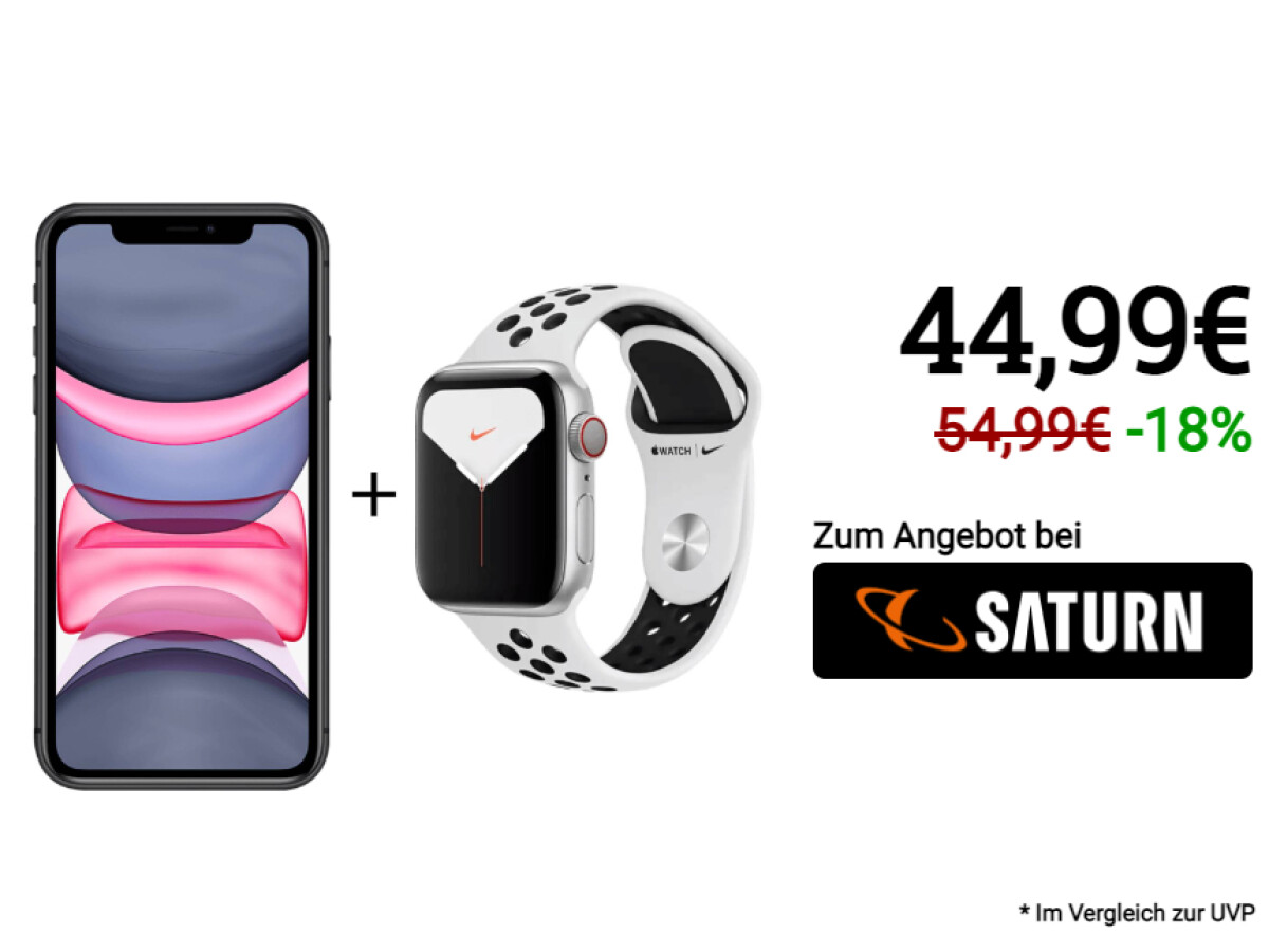 iPhone 11 with 120 gigabyte all-network flat rate and Apple Watch Series 5