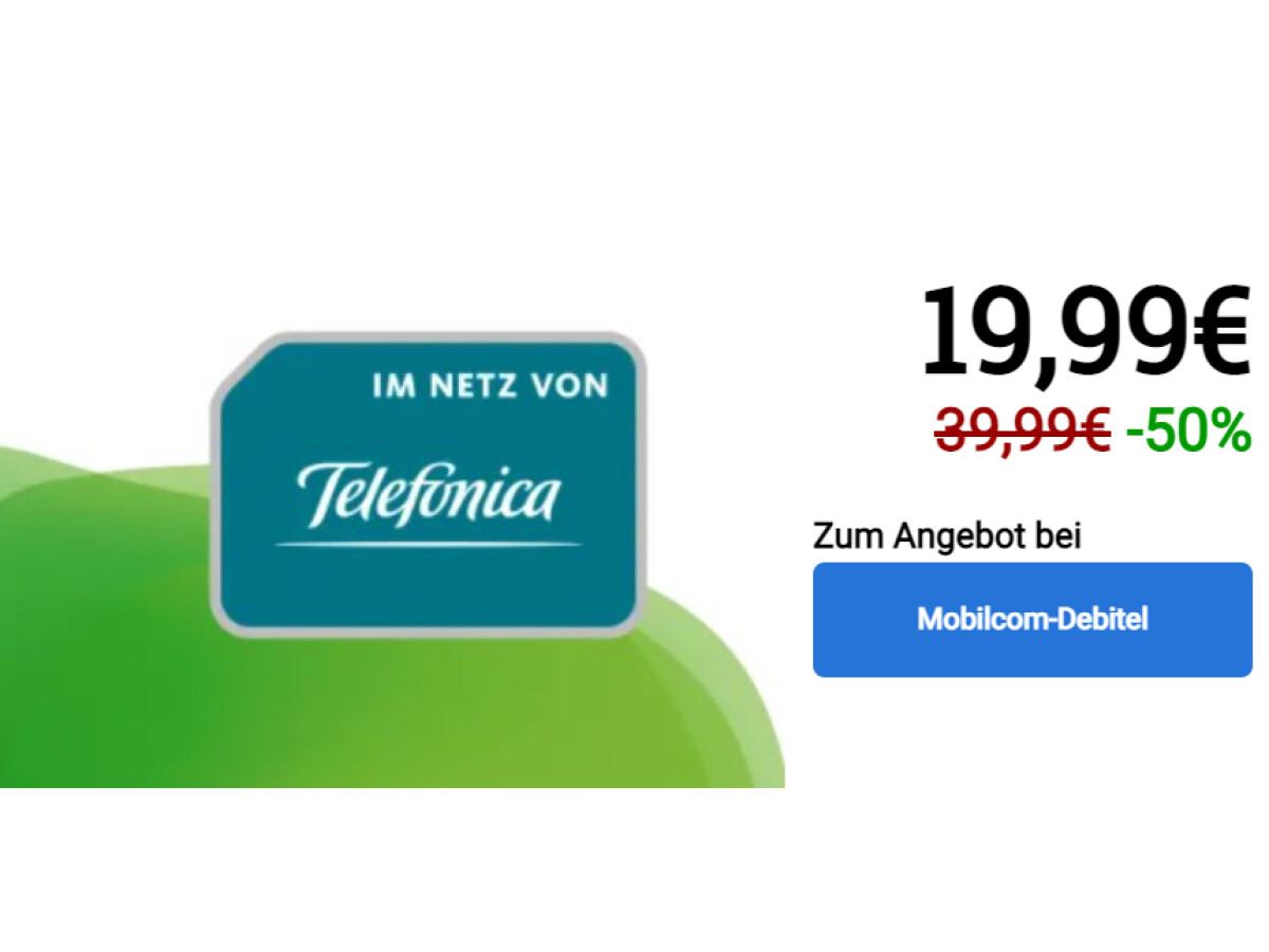Allnet flat rate with 40 gigabytes of surfing volume for only 19.99 euros per month