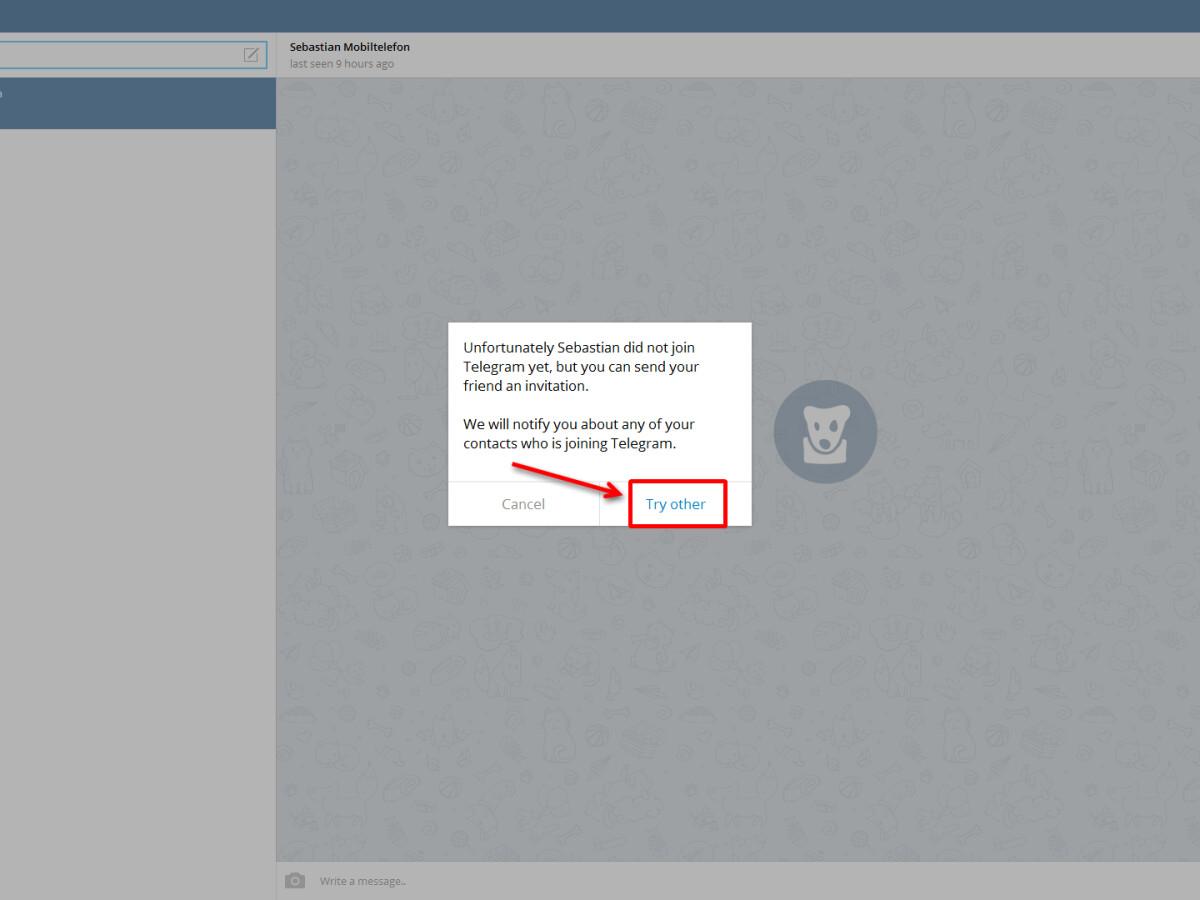 Kontakte nicht sichtbar telegram Telegram Account