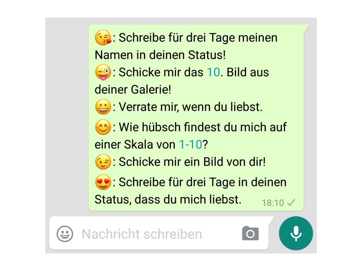 Schickt Mir Emoji Wa Vorlage Whatsapp Fragen 9
