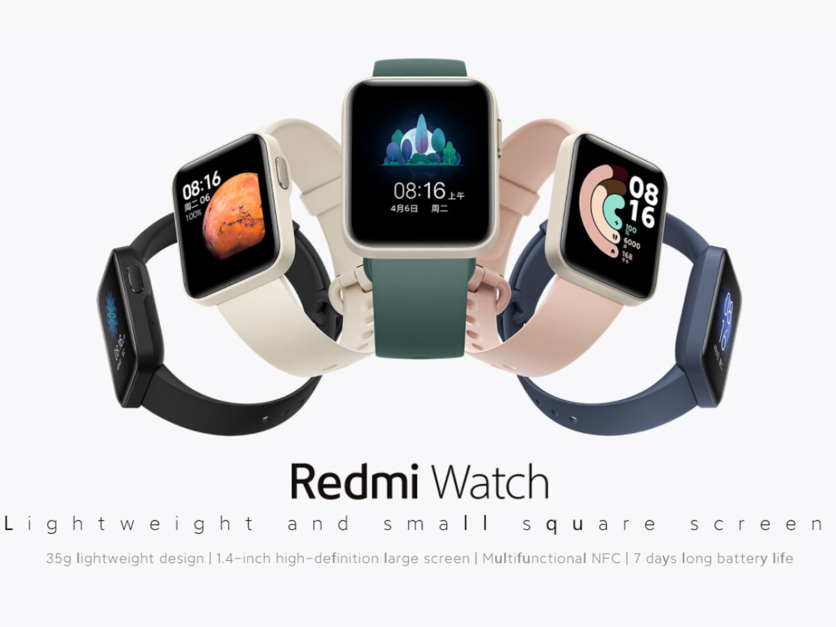 The Redmi Watch looks very similar to the Apple Watch.
