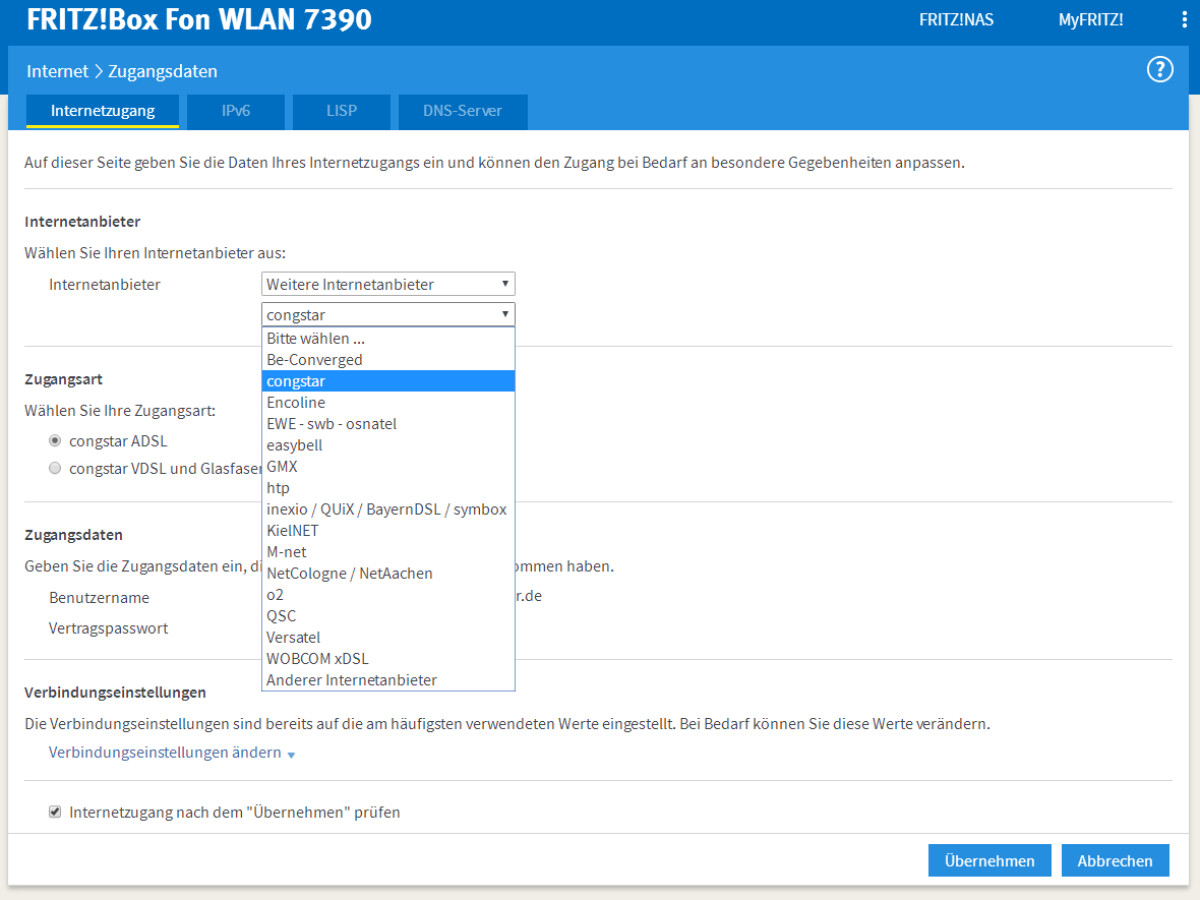 FritzBox So richtest du den DSL Zugang von T Online, 20&20 ...
