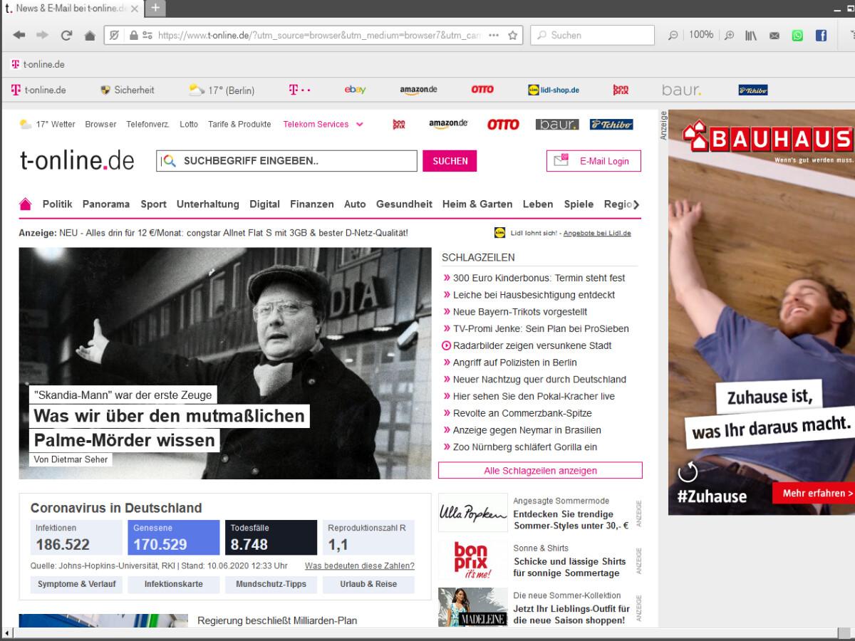 t-online.de Browser - Download   NETZWELT