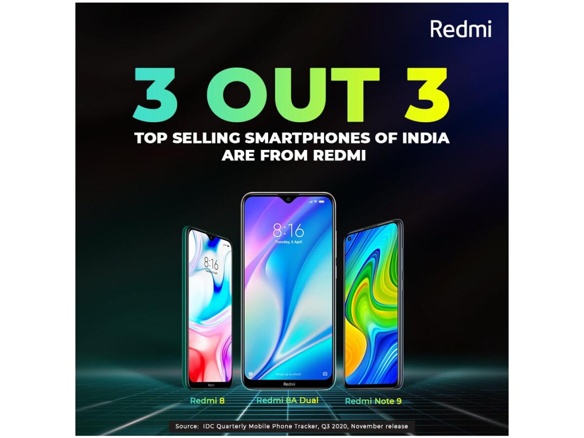 Xiaomi dominates the Indian market.