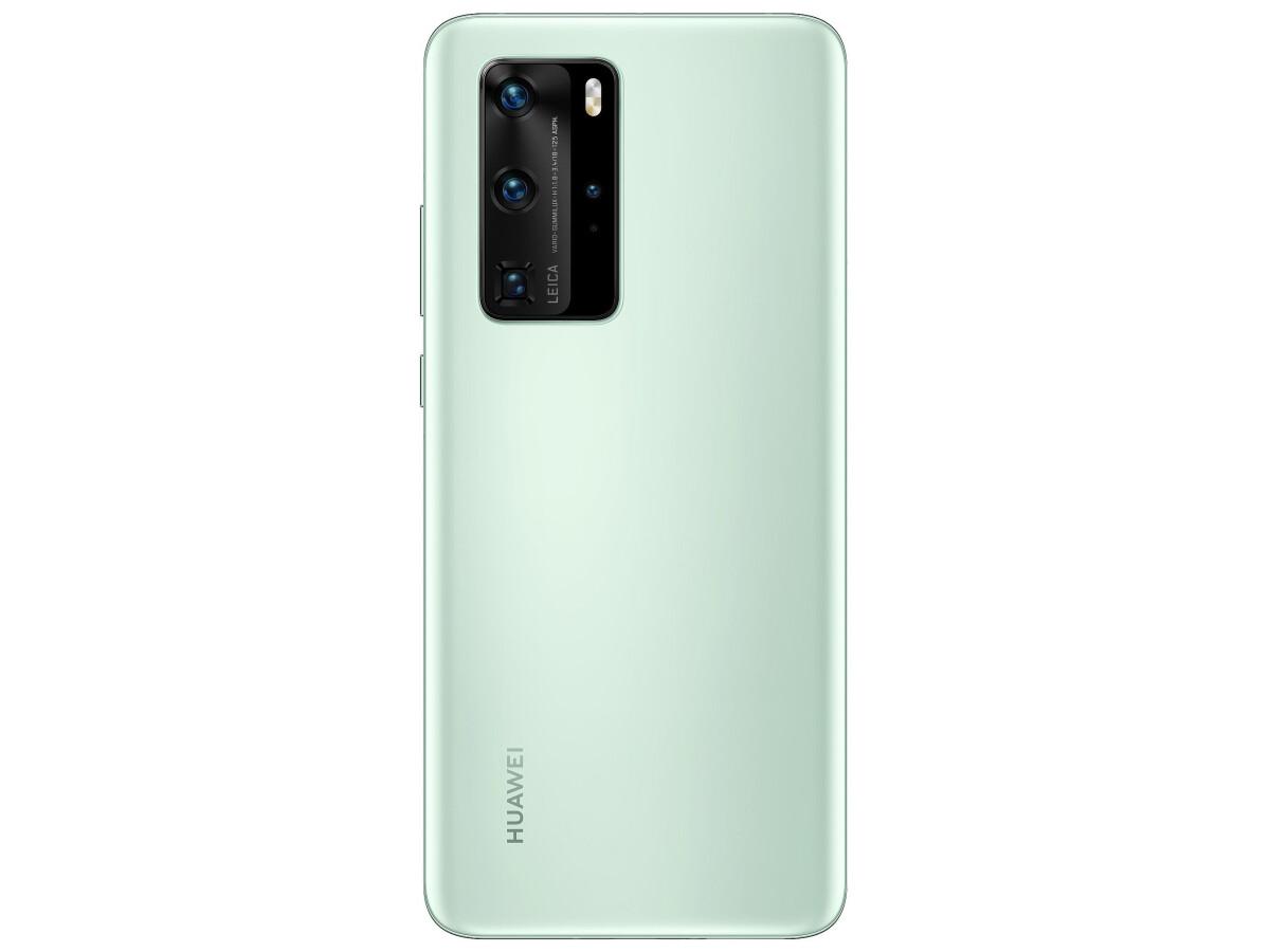 Huawei P40 Pro: Handy in der Farbe Mintgrün auf neuem Bild zu sehen