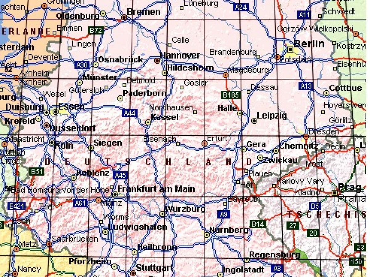 Sat Drehanlage Einstelltabelle Und Deutschlandkarte Fur Astra 19