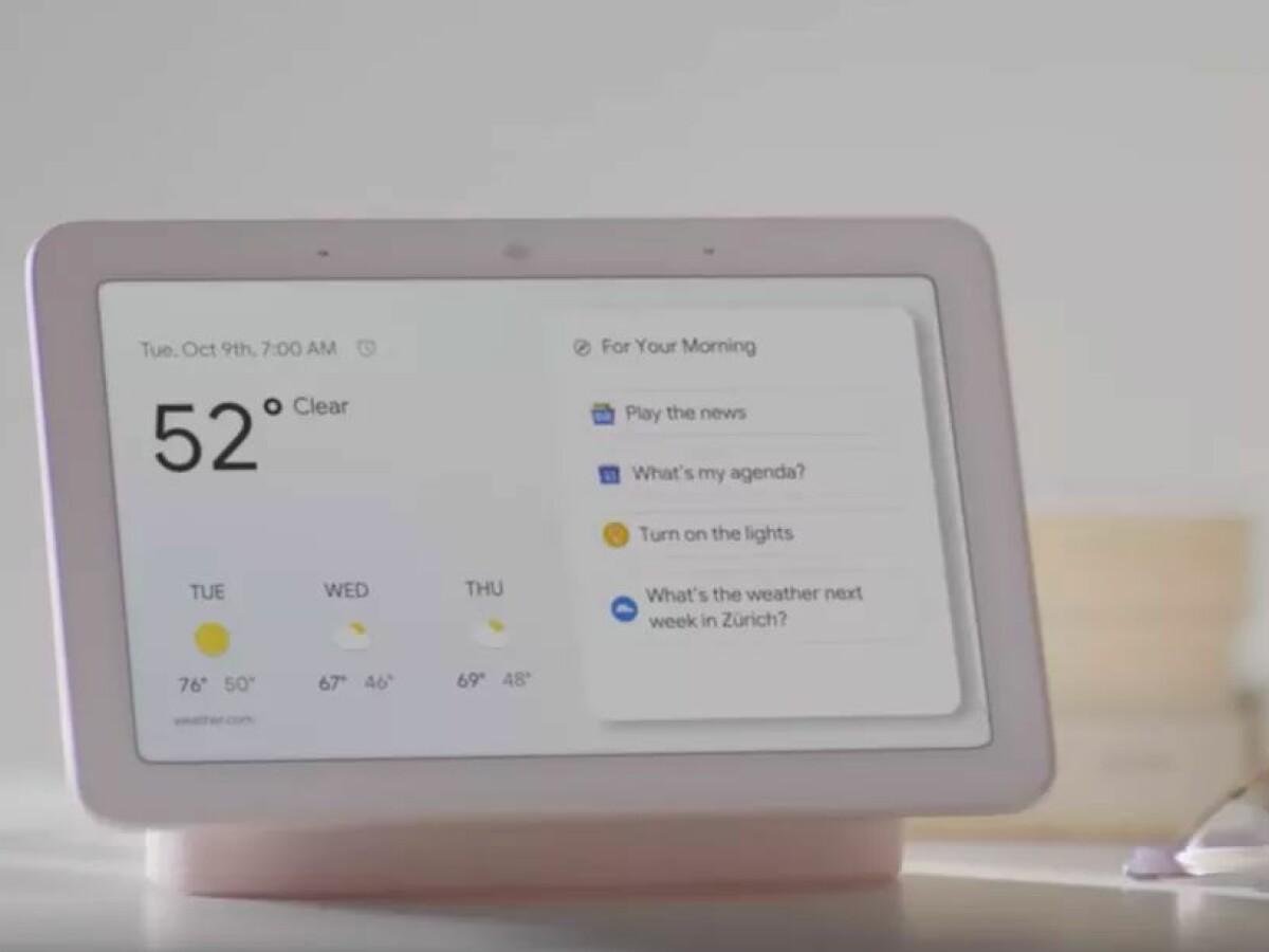 Google Home Hub Das Ist Googles Echo Show Konkurrent Netzwelt