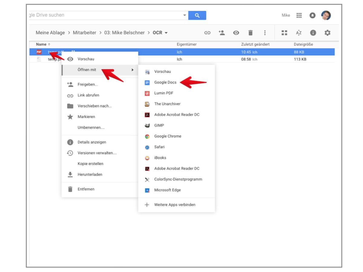 Texterkennung Google