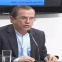 Ricardo Patino verkündete die Entscheidung Ecuadors, Julian Assange Asyl zu gewähren.