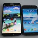 Gegen das Galaxy Mega (links) wirkt selbst das Galaxy Note II wie ein Winzling. Das Mega ist ein günstiger Note-Ableger aus dem Hause Samsung.