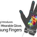 """Die Samsung Fingers bieten ein flexibles Super EMO-LED-Display. Dadurch kann es Getränke warm oder kalt halten, lässt sich per Sonnenlicht aufladen und bietet eine versteckte 16-Megapixel-Kamera sowie Unterstützung für den Post-LTE-Mobilfunkstandard 5G. Dank der innovativen Funktionen """"Talk to the Hand"""" und """"Voice & Snap Amp"""" sollen die Samsung Fingers nicht nur parallele Konversationen ermöglichen, sondern die Stimme des Nutzers in Diskussionen auch auf Vuvuzela-Lautstärke erhöhen."""