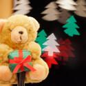 Der Teddy musste, wie so oft bei Testaufnahmen, als Model herhalten...