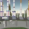 Raketenbesichtigung an der Abschussrampe