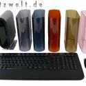 Das Maus- und Tastatur-Set hat eine Reichweite von über zehn Meter.