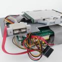 Der Ausschnitt ermöglicht ein müheloses entfernen der Festplatte.