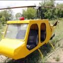 In acht Monaten hat sich der stolze Entwickler einen eigenen Helikopter gebaut, aus Teilen eines Honda Civic, eines Toyotas und einer abgestürzten Boeing 747.