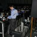Der Platz für Rollis lag bei dieser Konferenz direkt neben der Technik