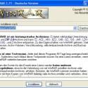 Im ersten Schritt geben Sie oben an, wohin WinRAR installiert werden soll. Mit einem Klick auf <i>Installieren</i> startet der Kopiervorgang.
