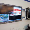 42 Zoll-Glitzerfernseher in digitalem Wohnzimmer