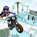 Waluigi beim Sprung mit einem Motorrad.