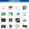 Link und Infos zu Bildern gibt es erst beim Mouseover - das schafft Übersicht.