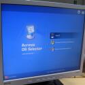 Der Bootmanager bietet OS X und Windows an.