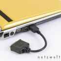 Für den HDMI-Anschluss liegt ein DVI-Adapter für Flachbildschirme bei.