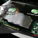 Der deutsche Versandhändler setzt hauptsächlich auf Wasserkühl-Komponenten made in germany. Wie zum Beispiel den hier gezeigten Aquagrafx G80 von Aqua Computer, einen Kühler für die Nvidia GeForce 8800 GTX.