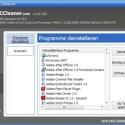 Unter <i>Extras > Programme deinstallieren</i> haben Sie die Möglichkeit, unabhängig von der Windows-Funktion Software von Ihrem System zu entfernen. Wahlweise können Sie jeweiligen Einträge auch nur umbenennen.