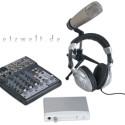 Mit einem Mischpult, Firewire-Interface, Großmembran-Mikrofon und einem Kopfhörer ist das Podcastudio von Behringer besser ausgestattet als das...