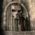 Der Tod spielt eine der Hauptrollen in dem Kurzfilm Cedric - hier im Bild vor seinem Anwesen.