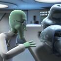 Die Animationen in Cedric sind äußerst detailliert - hier spiegelt sich zum Beispiel der Professor in der metallisch glänzenden Roboterverkleidung.