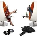 Der halbkugelförmige Sitz ist gleichzeitig ein Lautsprecher.