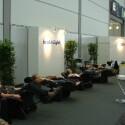 Entspannung nach oder während eines stressigen Messetages fanden die Besucher am Stand von brainLight. Das Unternehmen ist spezialisiert auf audiovisuelle Entspannungshilfen sowie Massagesessel.