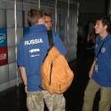 Hier warten Spieler aus Russland auf ihren Einsatz.