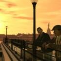 Der Sonnenuntergang kann am Pier genossen werden.