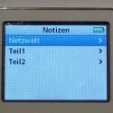 Im Museum-Mode startet der iPod direkt in den Notes-Ordner