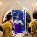 Der magische Spiegel ist bei der Wahl der Kleidung behilflich.