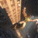 """Eine besonderheit in \""""Bionic Commando\"""" war die Tatsache, dass der Charakter nicht springen könnte. Stürzen scheint aber sehr gut zu funktionieren."""