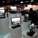Der kleine OLED-Fernseher kann auf der CES gleich massenhaft begutachtet werden.